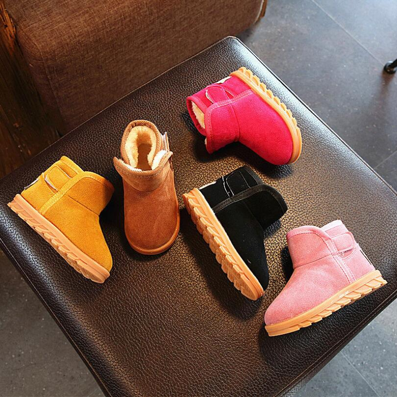 2019 New Plush Warm Baby Toddler Boots Fashion Child Snow Boots Shoes For Boys Girls Winter Shoes 1-3 Year Old Kids Ankle Boots