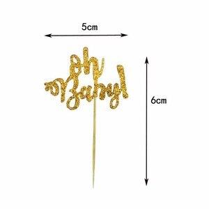 Image 3 - 10 Chiếc Mạ Vàng Long Lanh Oh Bé Cupcake Trang Trí Đồ Oh Boy Cô Gái Cho Bé Ballon 1st Chúc Mừng Sinh Nhật Bánh Trang Trí Trẻ Em dự Tiệc Cung Cấp
