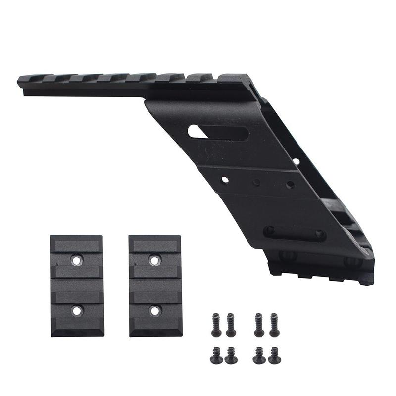 Universal Tactical AEG Pistol Plastic Polymer Base Quad Rail Picatinny Sight Laser Lighting Scope Mount For 17 5.56