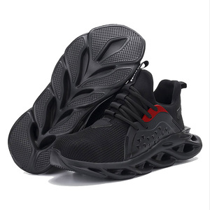 Image 2 - Mens Outdoor Breathable Mesh Steel Toe Safety Shoes Light Puncture Proof Comfortable Work Shoes Reflective Safety Boot