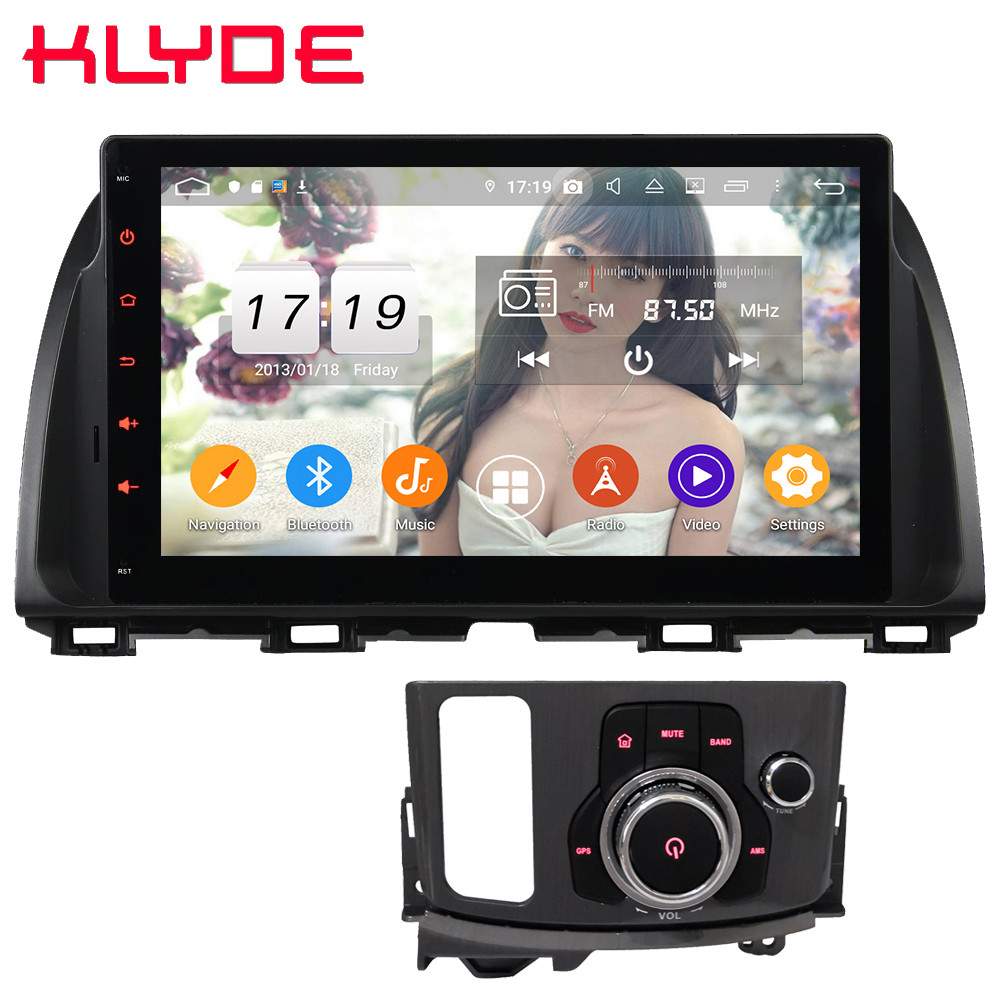 Klyde 10.1 IPS 4G Android 9.0 Octa Core 4GB RAM 64GB ROM DSP BT Car DVD Multimedia Player Radio For Mazda CX-5 1 KE 2012-2017 image