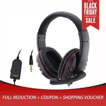 Hot New Wired 3.5mm gaming Headset Headphone Earphone Music Microphone For PS4 PlayStation 4 Game PC Chat fone de ouvido hot sale protable xbox360 wired gaming chat dual headset headphone microphone for xbox 360 computer black