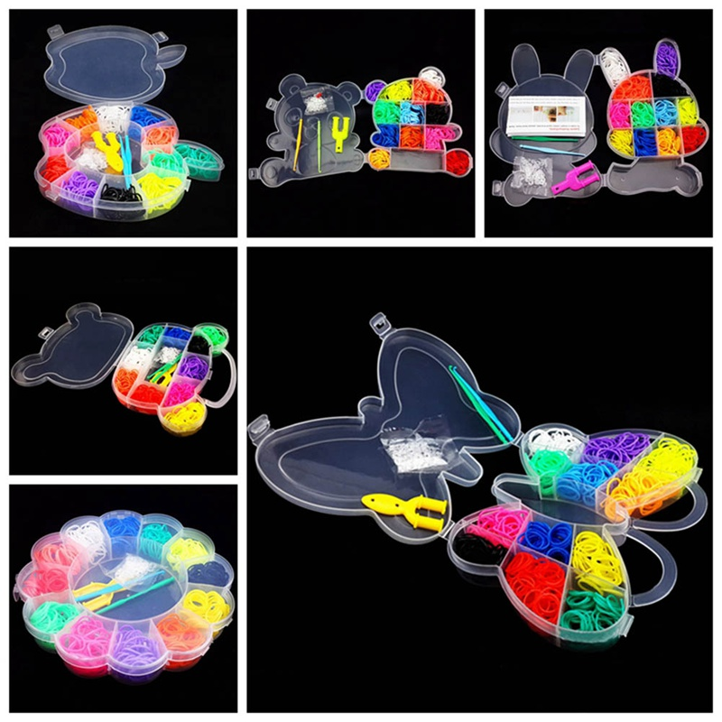 Colorful DIY Multi-function Rainbow Like Rubber Band Weaving Bracelets Loom Bands For Children