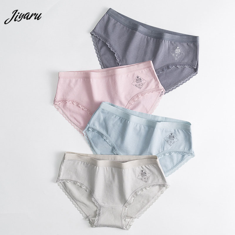 2019 Panties Women Briefs Underwear Sexy Lingerie Ladies Comfortable Panties Breathable Middle Waist Briefs Women's Intimates