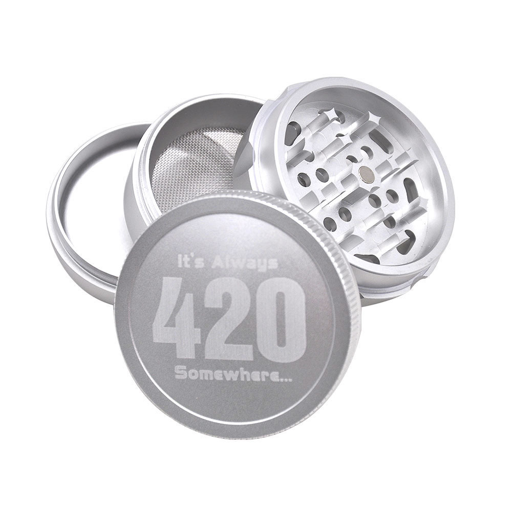 Aircraft Aluminum Herb Tobacco Grinder with Diamond Teeth 63 MM 4 Layers Herb Grinder Crusher Spice Grinder 6