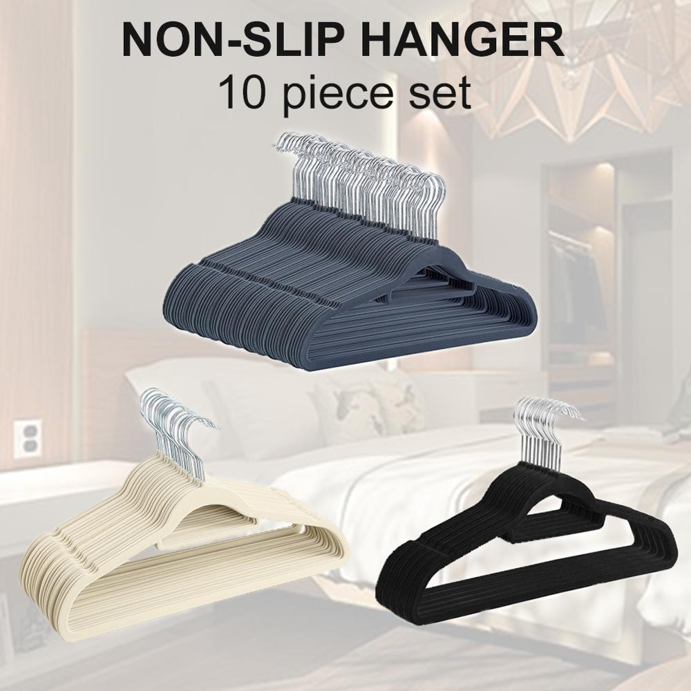Flocking Hanger Non-slip Plastic Flocking Velvet Coat Flocked Custom Hanger Seamless Drying Rack Newest 2019