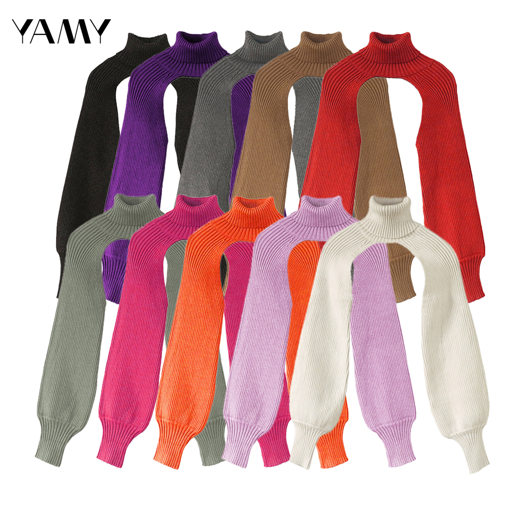 Women Turtleneck Sweater Knit Tops Casual Long Sleeve Knitted Pullover New Design Fashion Female Autumn Za Knitwear Streetwear