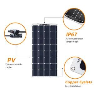 Image 4 - 2Pcs 4Pcs 10Pcs 100 W פנל סולארי Monocrystalline תאים סולריים גמיש עבור רכב/יאכטה/ספינת קיטור 12V 24 וולט 100 ואט סולארי סוללה