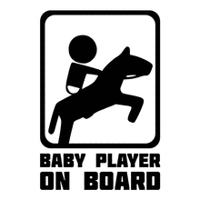 30323# Baby horse rider on board car sticker reflective car decal waterproof stickers on car truck bumper rear window vinyl цена 2017