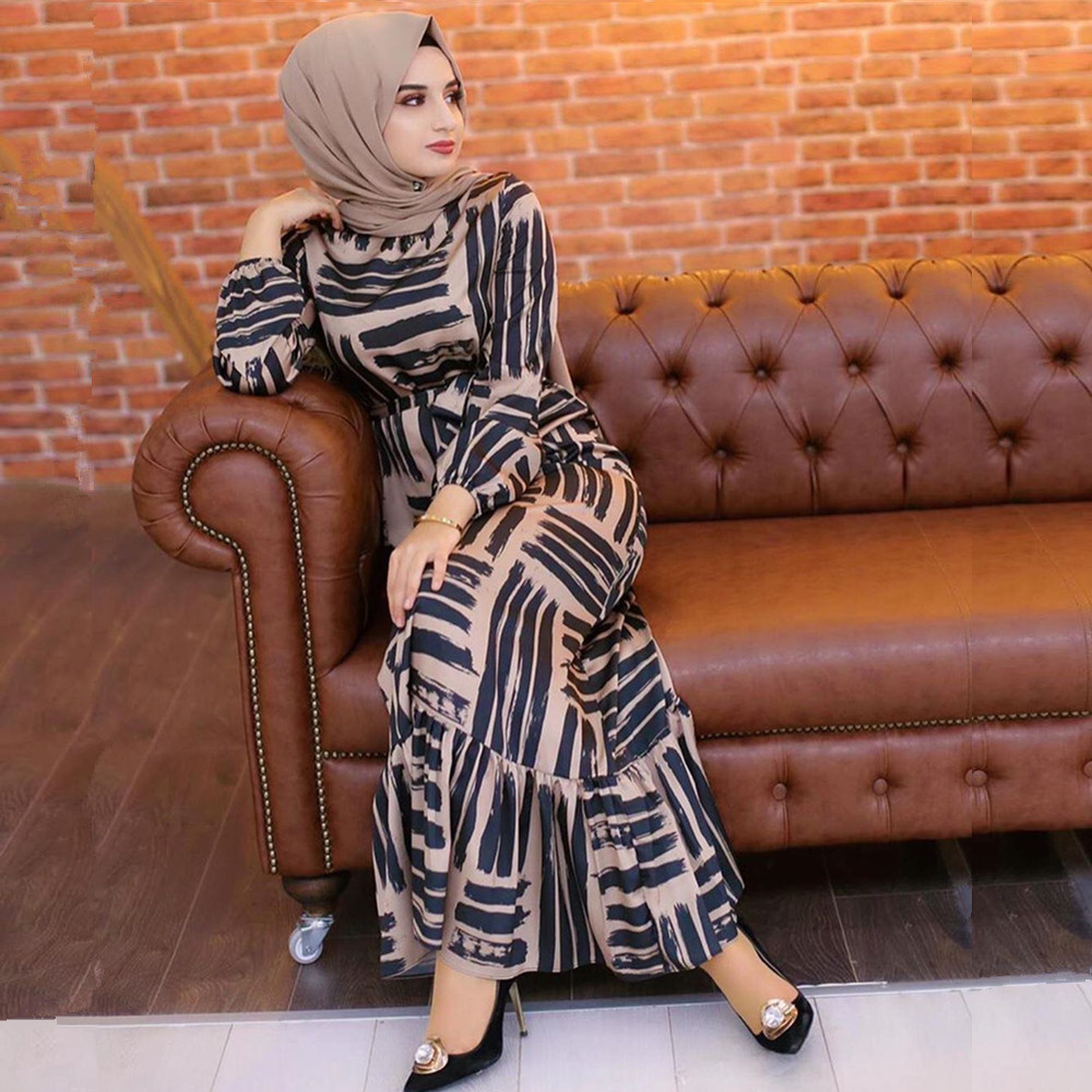 Eid Mubarak Muslim Fashion Dubai Abaya Turkish Hijab Summer Dress Islamic Clothing Women Robe Femme Ete Vestidos 5