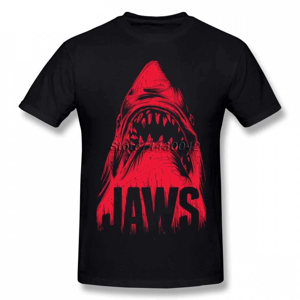 Kaken Haai T-shirt Voor Mannen Dropshipping Zomer Korte Mouwen Katoen Plus Size Custom Team Tee 4XL 5XL 6XL