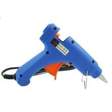 20W Hot Melt Glue Gun US EU Plug Thermo Gun 110mm Professional Guns Nozzle 110V-240V Blue Temperature Power Glue Strip Tool 20w electric repair trigger art tool heating gun hot glue us eu