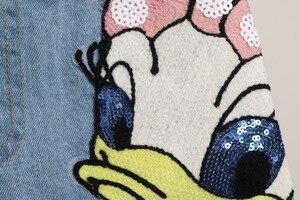 Image 5 - หญิงชุดการ์ตูนเป็ดพิมพ์เสื้อฤดูร้อน & Sequins Broken Holeกางเกงยีนส์กางเกงขาสั้นเด็กวัยหัดเดินเสื้อผ้าเด็กชุดเด็กเสื้อผ้า