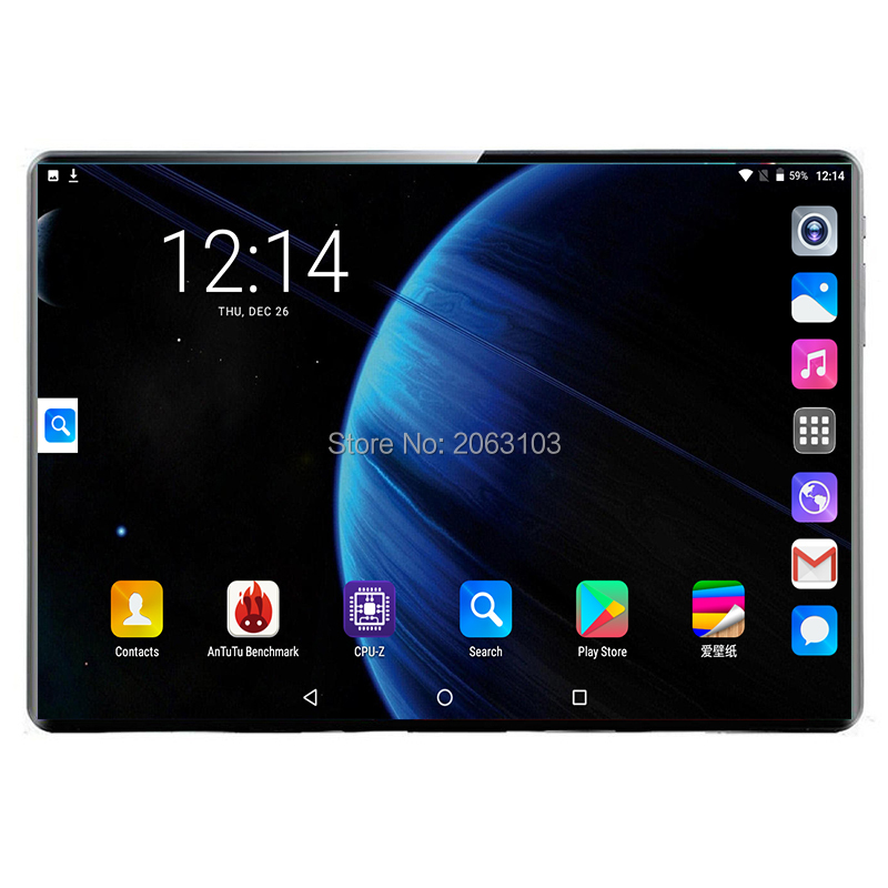 2.5D Tempered Glass 10.1 Inch Tablet Android 9.0 3G/4G Phone Call Deca Core 8GB/128GB Wi-Fi Bluetooth Support Tablet PC 10