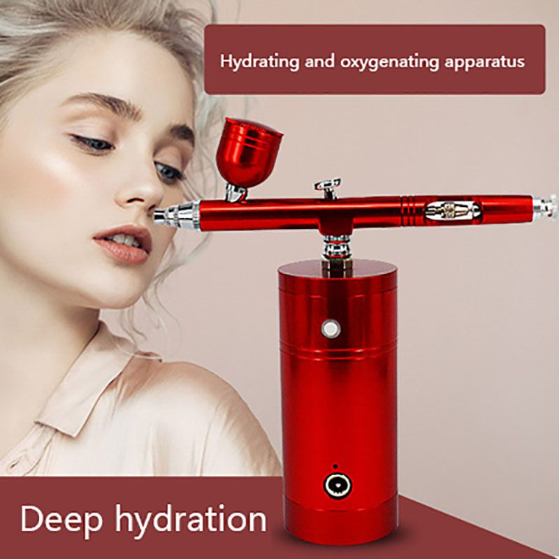 Multi-Purpose Air Compressor Kit Dual Action Nozzle Paint Spray Pen Kit Portable Air Brush Set