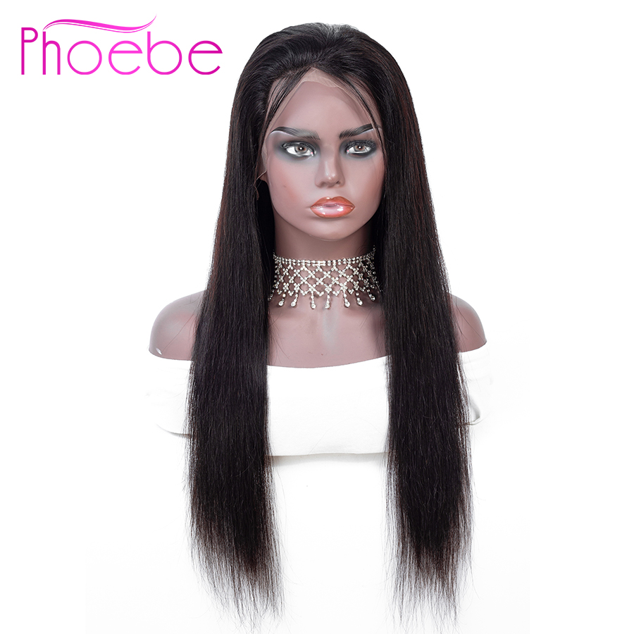Phoebe Hair 13x4 Straight Lace Front Wigs Brazilian Human Hair Wigs For Black Woman Natural Color