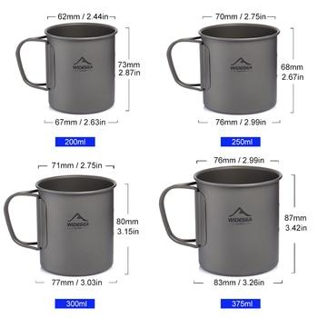 Widesea — Tasse de camping en titanium pour les touristes pique-nique, équipement de cuisine lors du voyage pour touristes, ensemble de vaisselle et d'ustensiles pour randonnée à l'extérieure 2