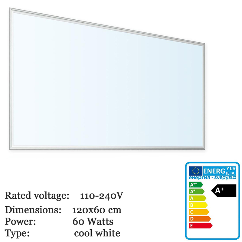 Thorx LED B <font><b>120x60</b></font> cm Ultraslim LED Panel - 60W, 5700lm led driver 100-240V, cool / warm / neutral Korea Japan fast shipping image