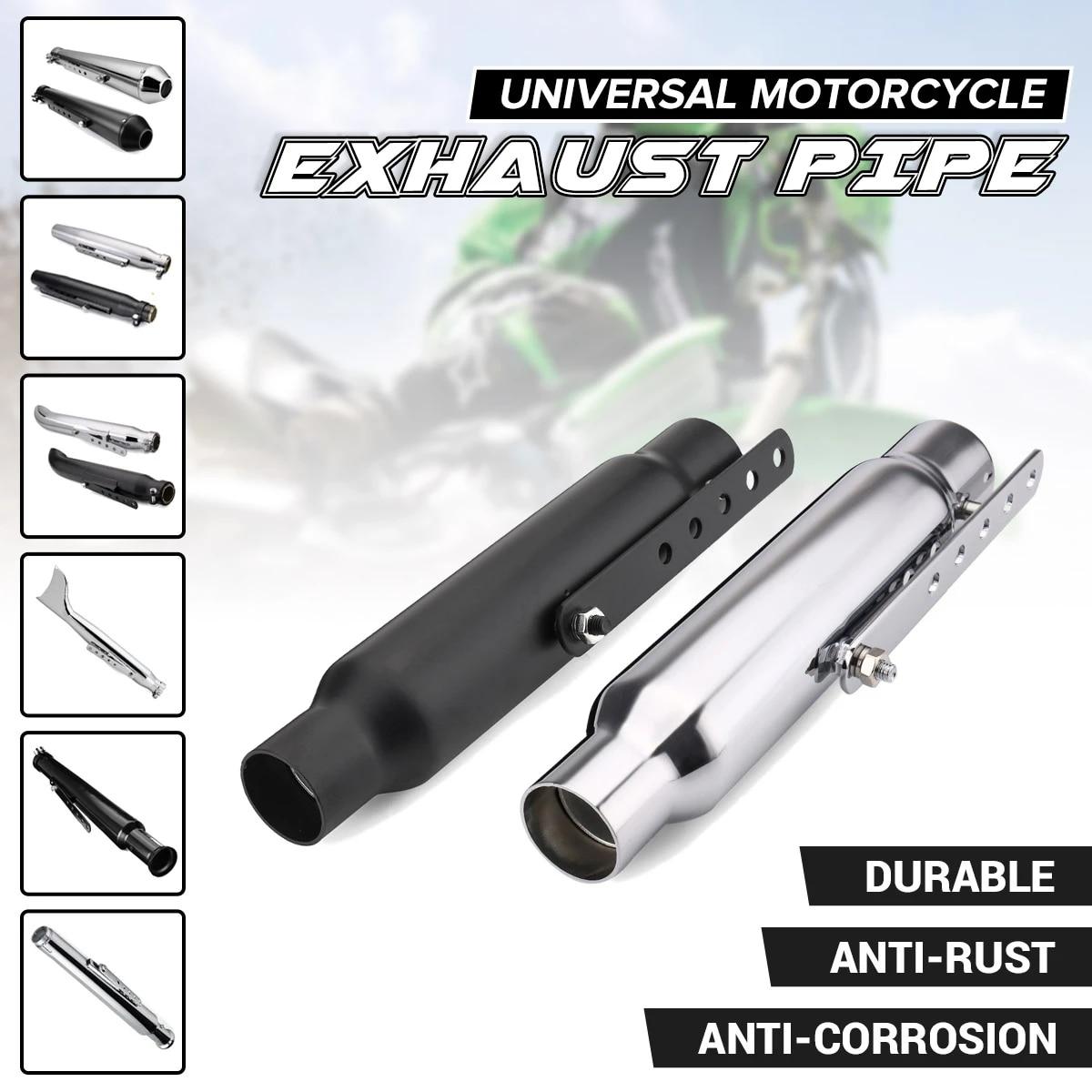 universal motorcycle exhaust pipe muffler exhaust tip vintage rear pipe tail tube for suzuki yamaha honda