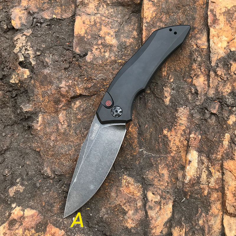 knives  Kershaw Jumping Knife 7100 Folding kinfe Quick Open Carrying Conveient wild self -defense  knife