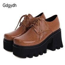 Gdgydh talons épais plate-forme pompes femmes chaussures confortables de haute qualité dames chaussures de créateur femmes Style de rue grande taille 44