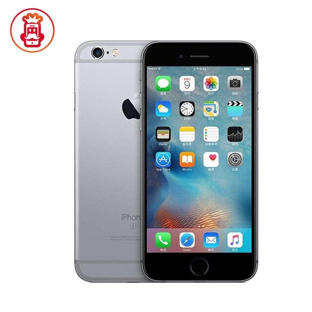 هاتف Apple iPhone 6S الأصلي غير مقفول بذاكرة وصول عشوائي 2 جيجا بايت وذاكرة قراءة فقط 16/64/128 جيجا بايت ومعالج ثنائي النواة وشاشة 4.7 بوصة وكاميرا 12 ميجا بيكسل هاتف iphone6s LTE هاتف مستعمل 1