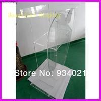 Acrylic Podium  Perspex Pulpit plexiglass Theater Furniture    -