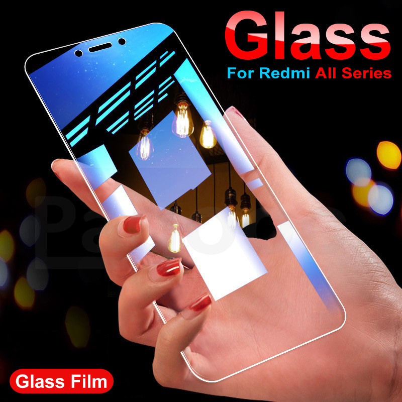9H Tempered Glass On For Xiaomi Redmi 4X 4A 5 5A 5 Plus 6 6A 7A Redmi Note 4 5 6 Pro Glass Screen Protector HD Protective Film