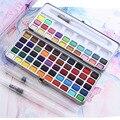 Профессиональная однотонная Акварельная краска, 50/72/90 цветов, набор акварельных красок, тренировочная художественная краска для рисования,...