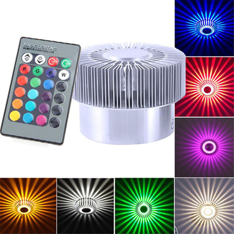 Aluminum Ceiling Light Colorful Surface Mounted Lamp Remote Control RGB Smart LED 3W Dimmable Light For Living Room Corridors