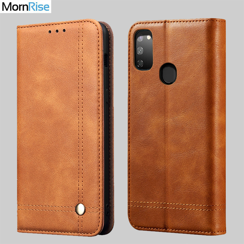 New Vintage Leather Flip Cover For Samsung Galaxy M30S M30 Wallet Luxury Card Stand Magnet Book Cover Casual Phone Case Fundas|Wallet Cases| |  - title=