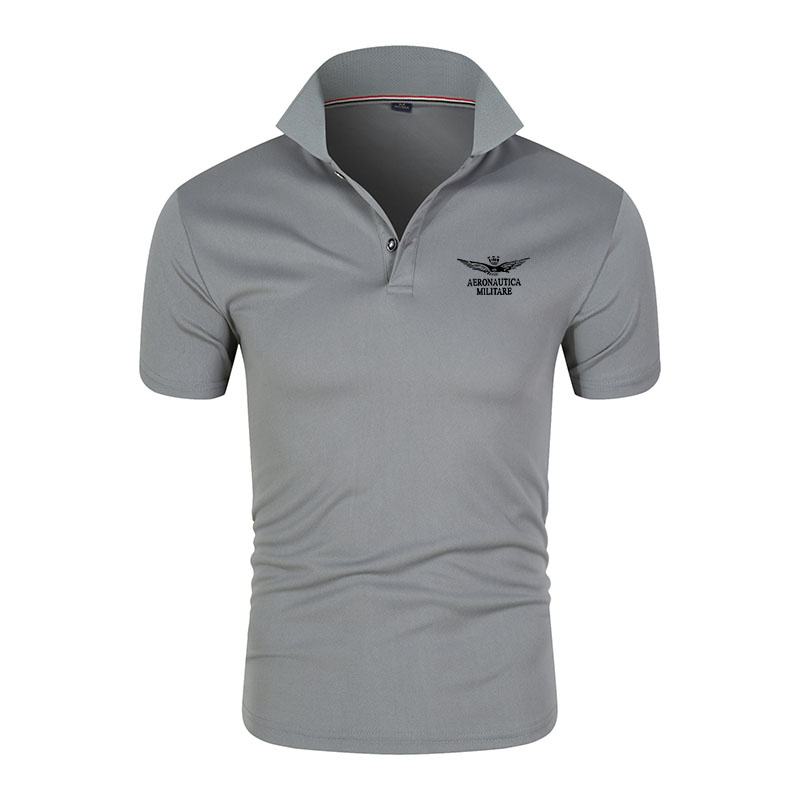 Verão de manga curta camisas polo de moda masculina camisas polo de negócios masculinas casual fino
