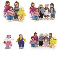 Милый пазл деревянная игрушка веселая семья кукла для родителей