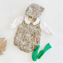 0-2Yrs New 2020 Autumn Winter Newborn Girls Floral Jumpsuits + Hat Clothes Baby