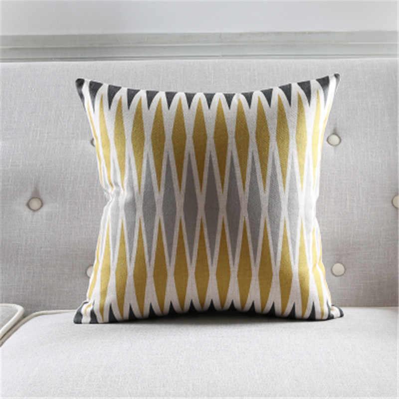 Dekoratif kırlent kılıfı hayvanlar zebra renk geometri pamuk keten yastık örtüsü kanepe ev dekor için çapa de almofadas
