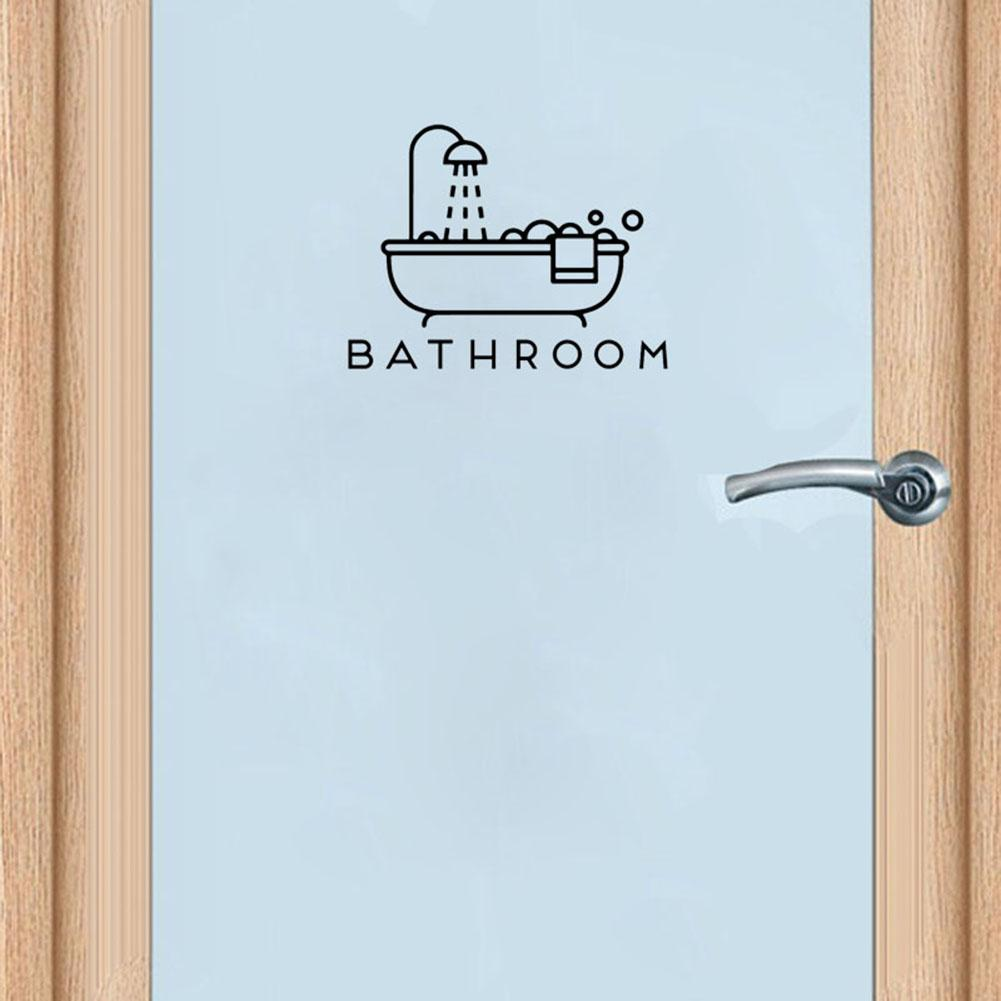 New Creative Diy Funny Door Stickers Bathroom Bathtub Shower Door Wall Art Decal Sticker Waterproof Home Decoration