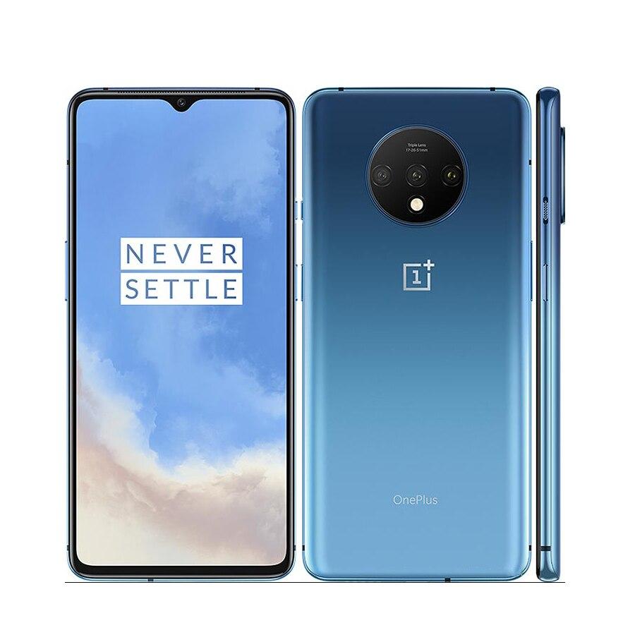 "Brand New OnePlus 7T Mobile Phone 6.55"" 8GB RAM 128GB ROM Snapdragon 855 Plus Octa Core Screen 48MP Triple Cameras UFS 3.0"