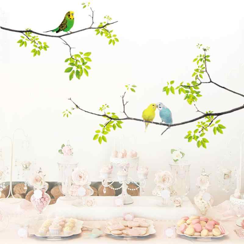 Wall Decals Fresh Birds on Tree Wall Stickers for Living Room Bedroom Kids