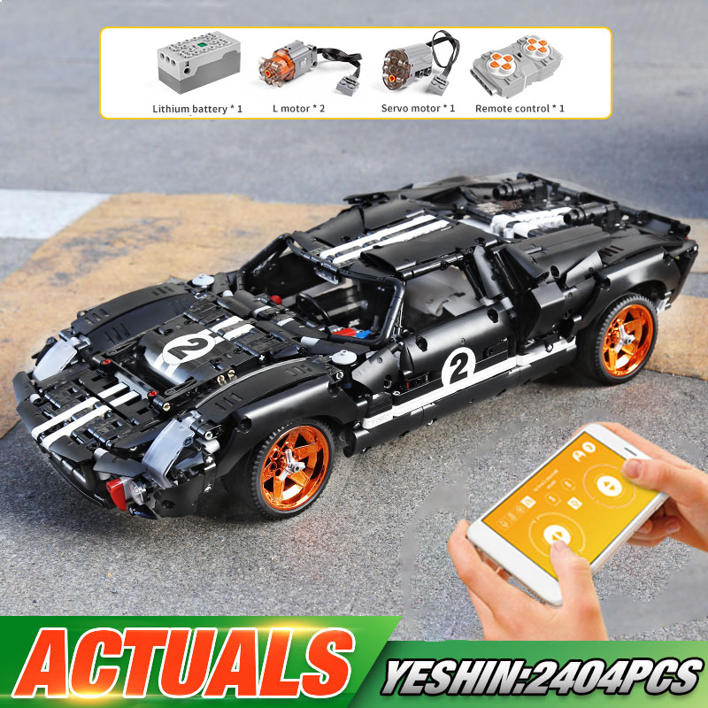 Yeshin APP Motorized Function High-Tech Car The MOC-33807 GT40 MK I 1967 Car Model Building Blocks