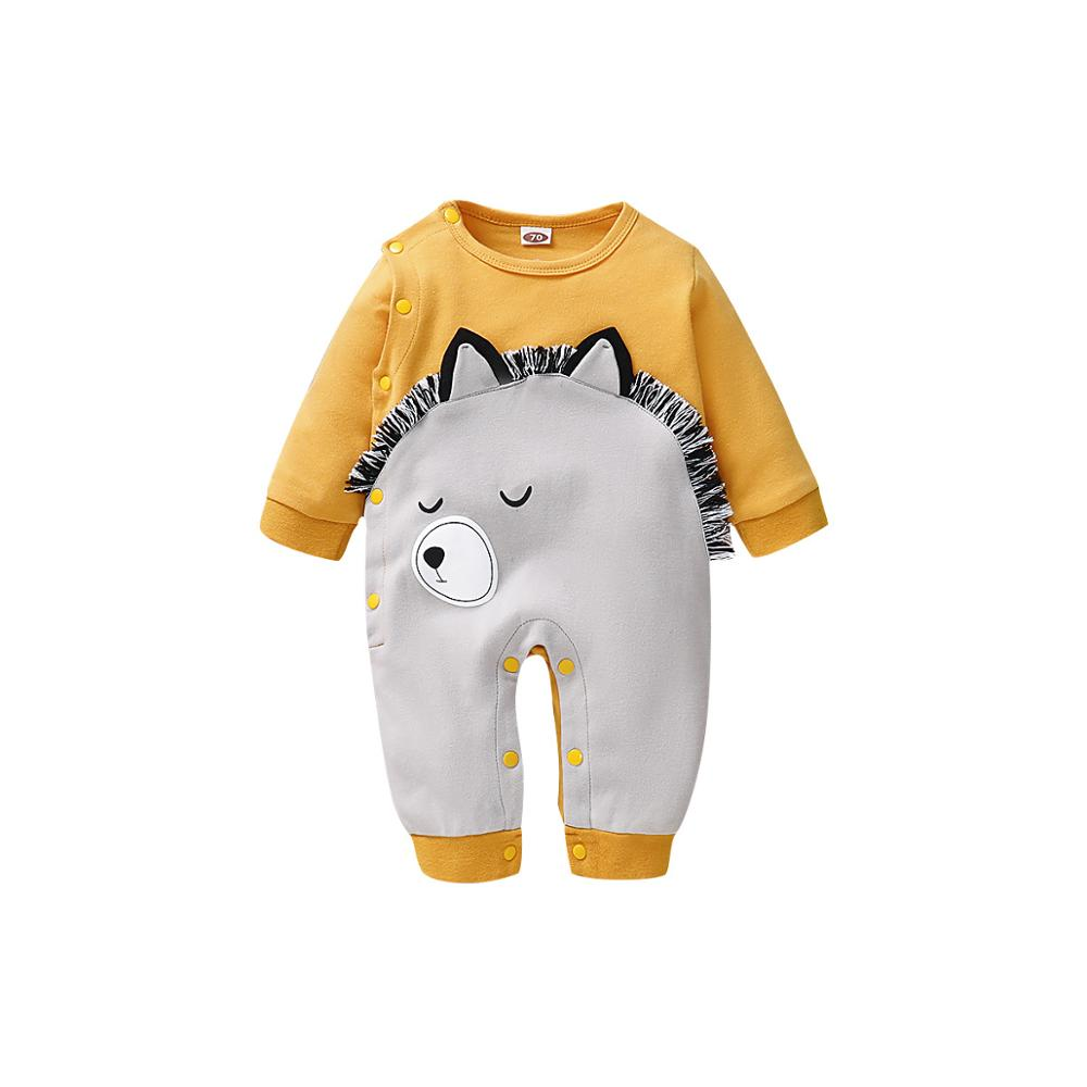 Baby Rompers Boys Clothes Cute Cartoon Pattern Newborn Infant Girl Jumpsuits Long Sleeve Toddler Kids Overalls One Piece Costume