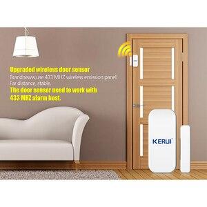 Image 5 - KERUI אינטליגנטי אלחוטי דלת פער חדש לבן 433 Mhz קשר אלחוטי דלת חלון מגנט כניסת גלאי חיישן חלון חיישנים