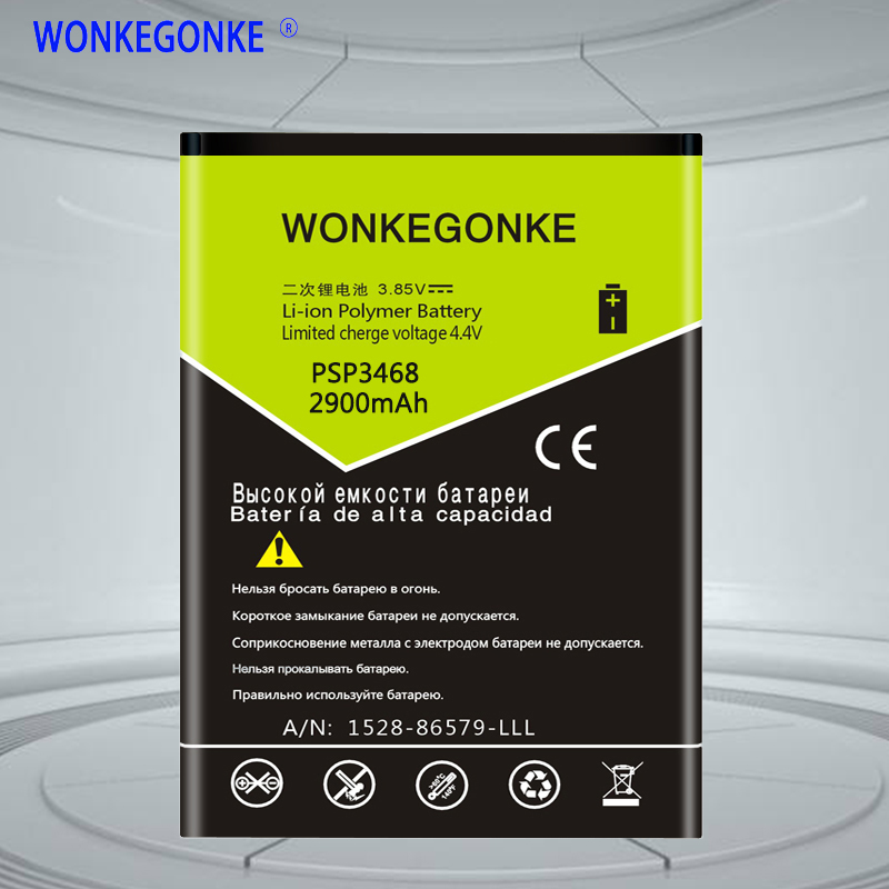 WONKEGONKE PSP3468 For Prestigio wise OK3 PSP 3468 DUO battery image