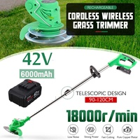 42V Electric Lawn Mower 6000mah Li ion Cordless Grass Trimmer Rechargeable With Battery Mower Household Cutter Garden Tools Kits
