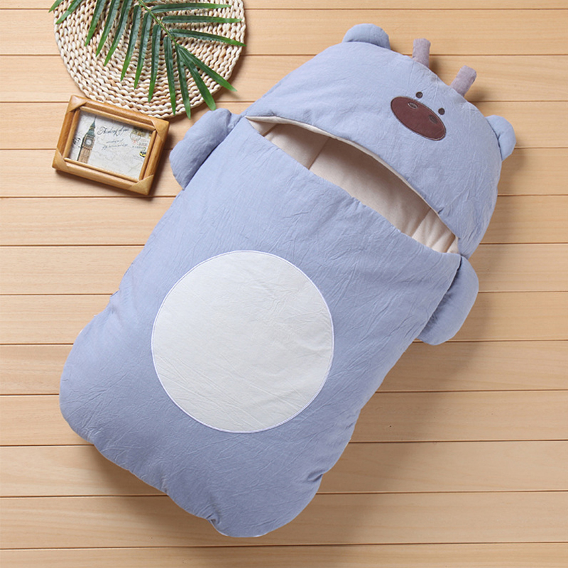 Newborn Baby Winter Warm Sleeping Bags Animals Infant Cotton Swaddle Wrap Swaddling Stroller Wrap 0-4 Month Baby Sleeping Bag