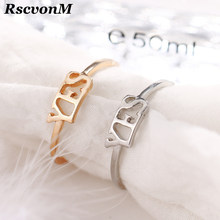 Fashion Adjustable Ring Three Color Women Ring Yes No Letters English Alphabet Ring Opening Design Adjustable Ring(China)