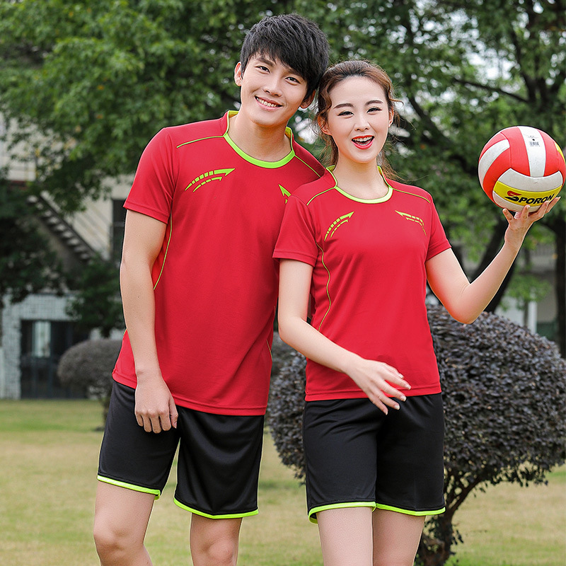 New Style Quick-Dry Badminton Clothing Set Men And Women-Summer Short Sleeve Tennis Clothes Table Tennis Wear Volleyball Sports