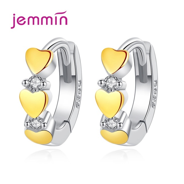 925 Sterling Silver Hoop Earrings Fashion Jewelry For Women Girls Party Engagement Romantic Heart Design Good Quality