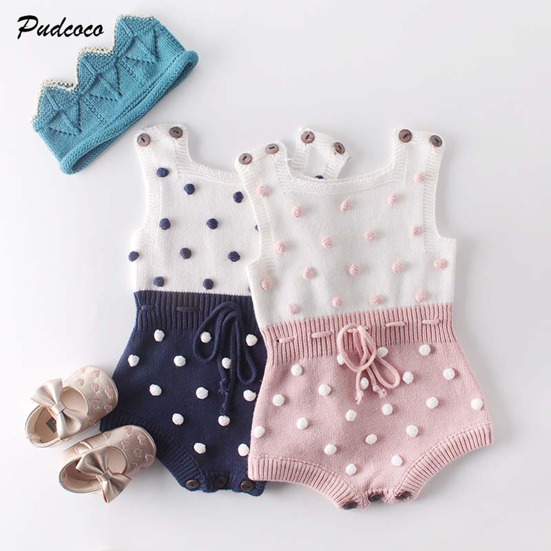 Romper Winter Jumpsuit Sweater Knitted Baby-Girl Cute Newborn Brand Cotton 0-24M Patchwork title=