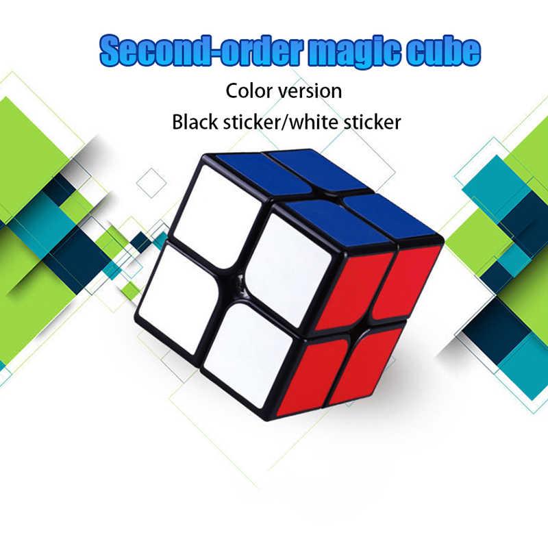2x 2 наклейки скоростной магический куб головоломка Высокое качество профессиональный куб искусственная кожа игрушки для студентов взрослые классические неокубики