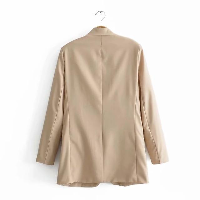 Blazer Women 2019 New Casual Long-sleeved Suit Female Winter Clothes Women Korean Blazer Feminino Longo Women Clothes Harajuku
